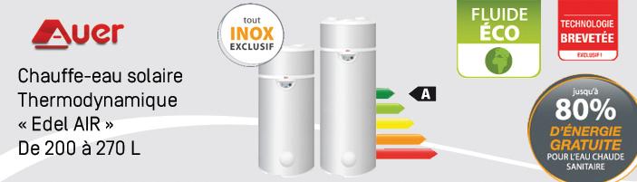 Chauffe eau thermodynamique au sol edel air soprogaz sa for Chauffe eau cuve inox